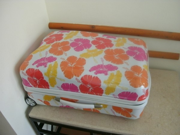 My awesome hibiscus luggage
