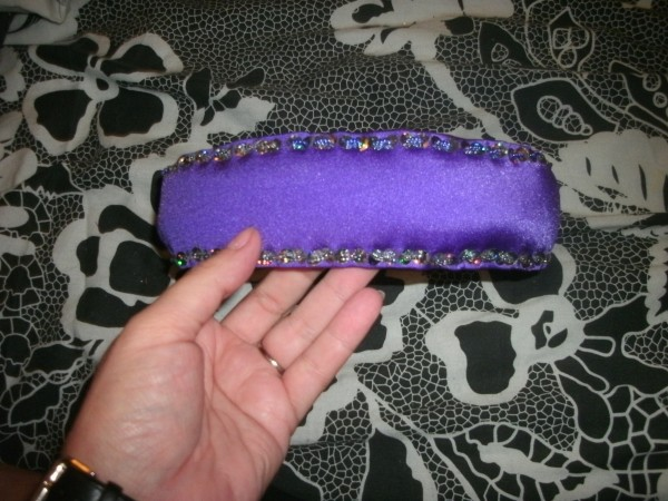 Purple hairband, with guest appearance of iridescent beads
