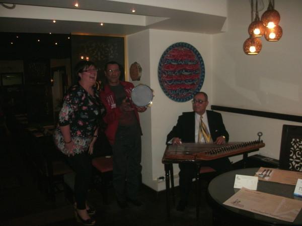 Musicians at Bram restaurant