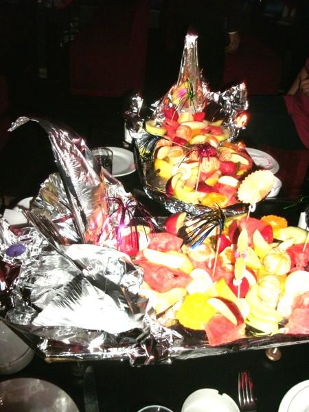 Fruit Platter at the Sunset