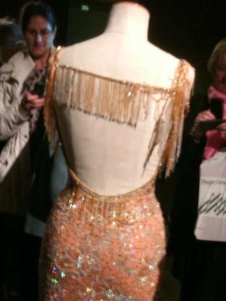 Ballroom costume rear view