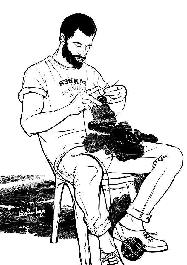 knitting men