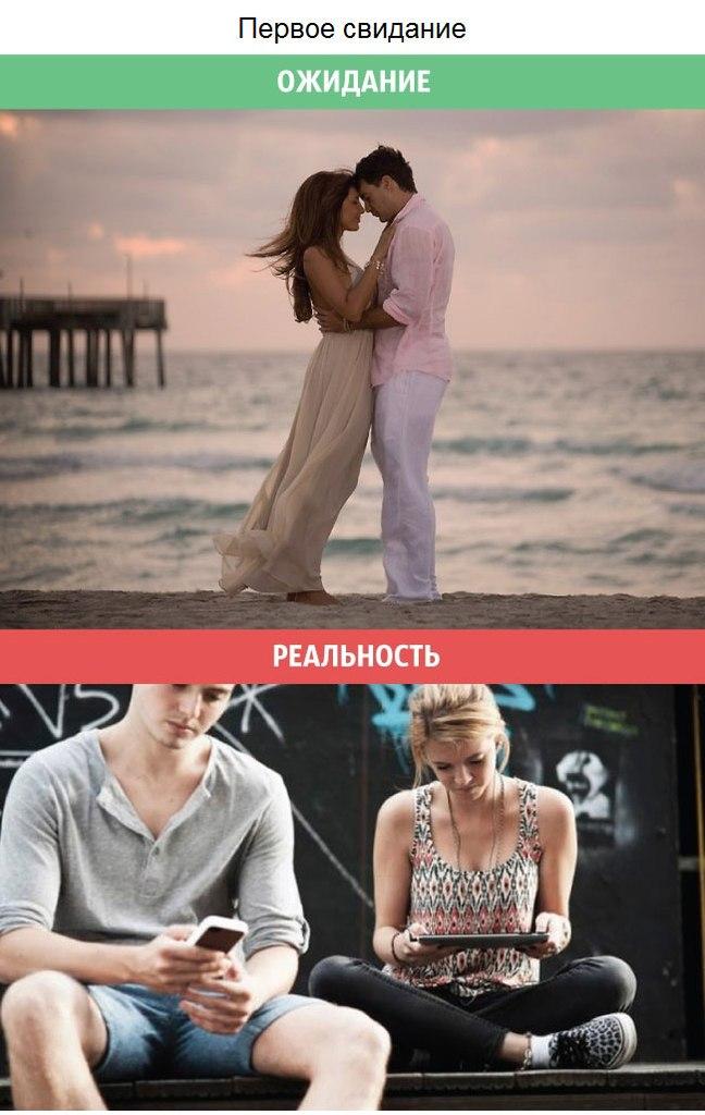 Ожидания и реальность в отношениях между мужчинами и женщинами