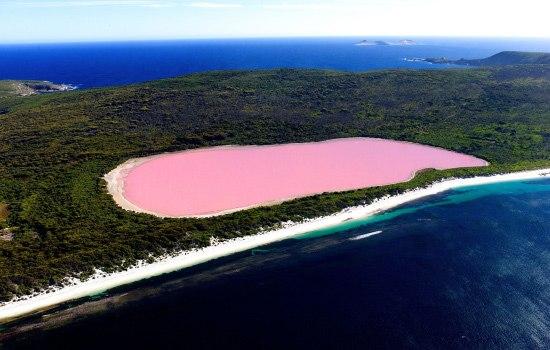 Хиллер - розовое озеро