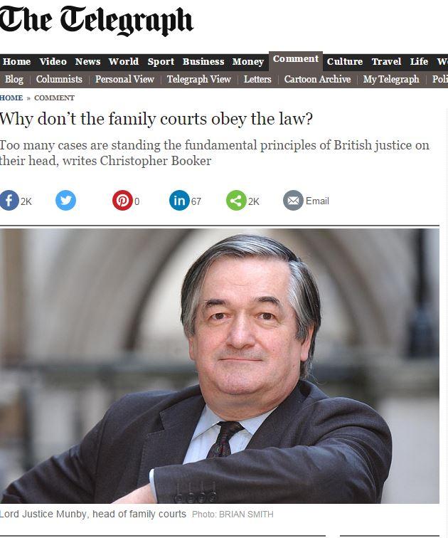 Британская газета «The Telegraph» публикует расследование системы ювенальных судов