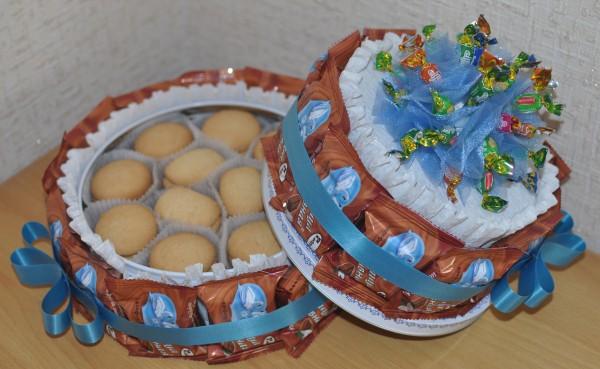 Торт детский из конфет