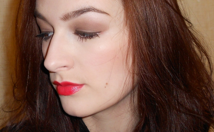 7 red lips make up with Dior Lipstick # 745 New Look by beauty-galaxy