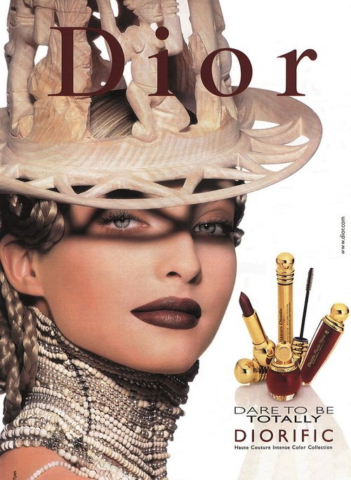 Make up poster - Christian Dior Magazine Advert - 1990s Dare to be totally Diorific collection by Tyen