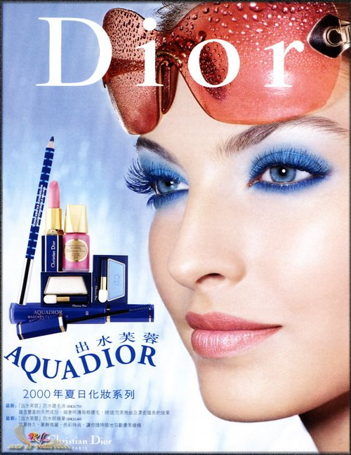 Make up poster - Christian Dior Magazine Advert - Dior 2000 Aquadior collection by Tyen
