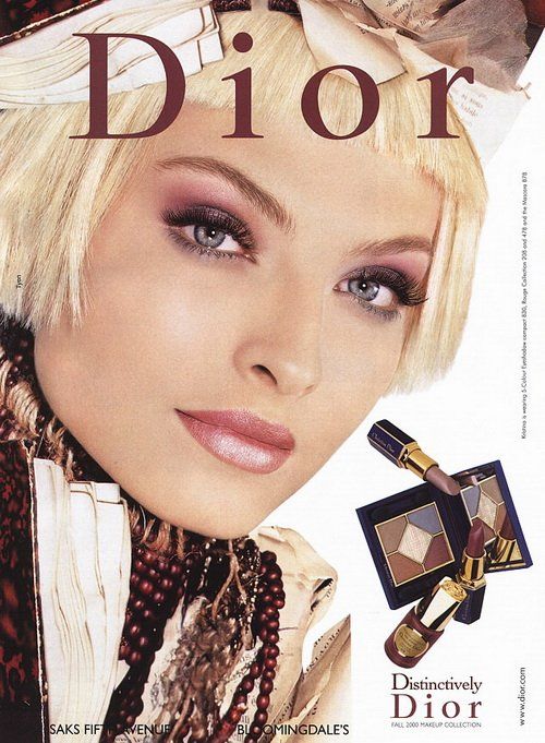 Make up poster - Christian Dior Magazine Advert - Dior Fall 2000 Distinctively collection by Tyen +