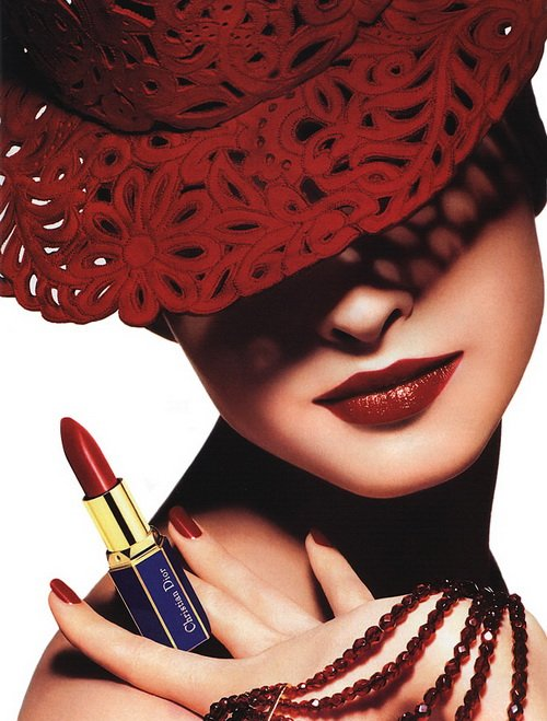 Make up poster - Christian Dior Magazine Advert - Rouge A Levres Lipstick by Tyen