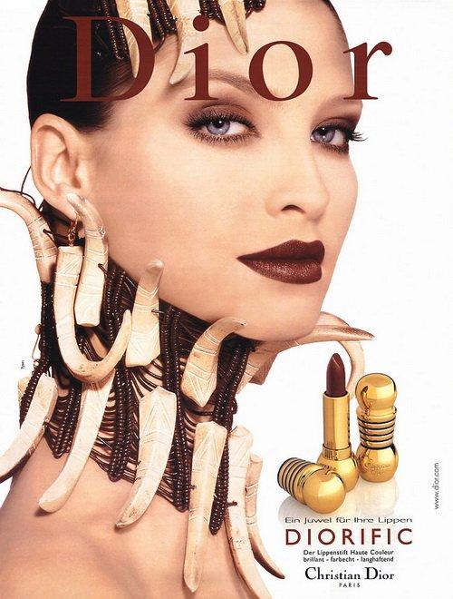 Make up poster - Christian Dior Magazine Advert - Diorific lipstick by Tyen