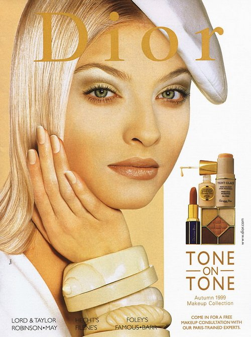 Make up poster - Christian Dior Magazine Advert - Autumn 1999 - Tone on tone collection by Tyen