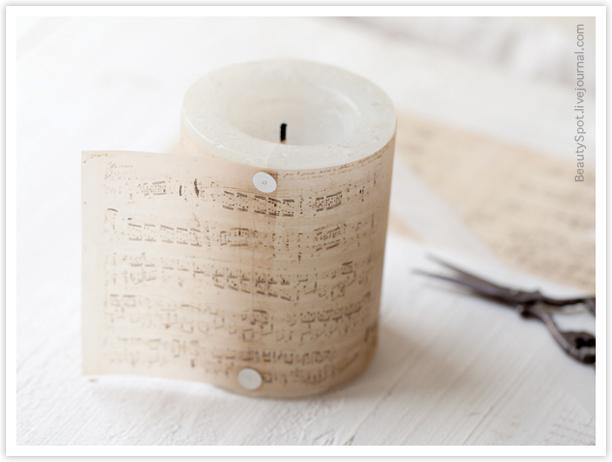 свеча с нотами