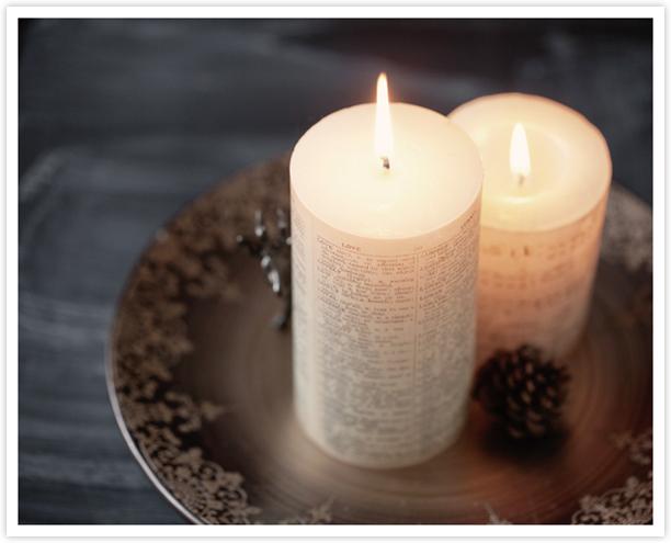 свеча с посланием