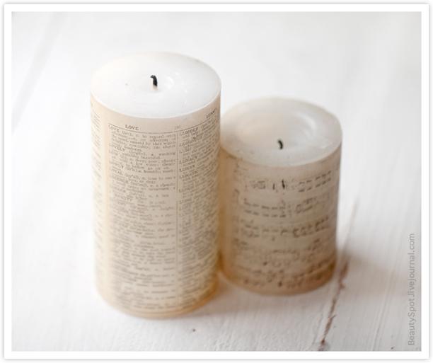свеча с текстом