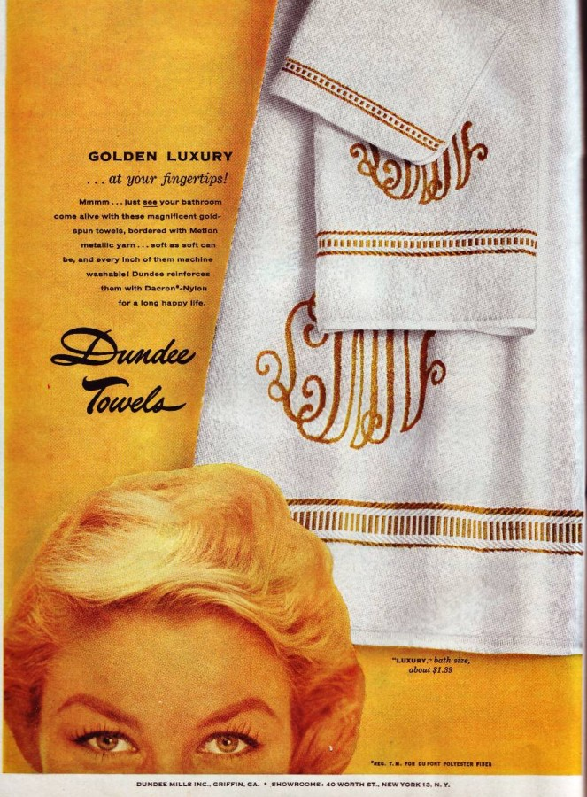 Dundee Towels 1957