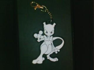 Mewtwo rubbery keychain