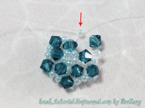 made rondelle balls beads crystals quartz with tutorial thread rose bead together chinese i three ball them and