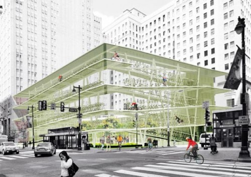 Modernise That Glass Tower With A Bike Ramp Around The