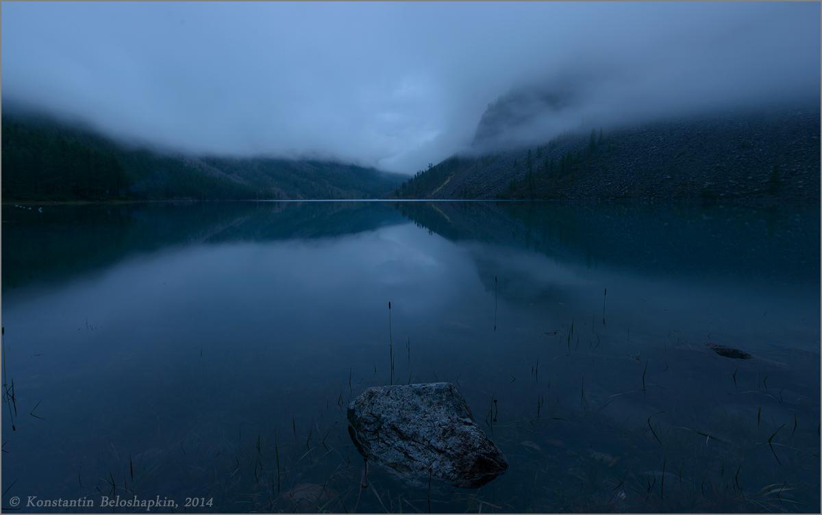 Туман и камень в воде 1200