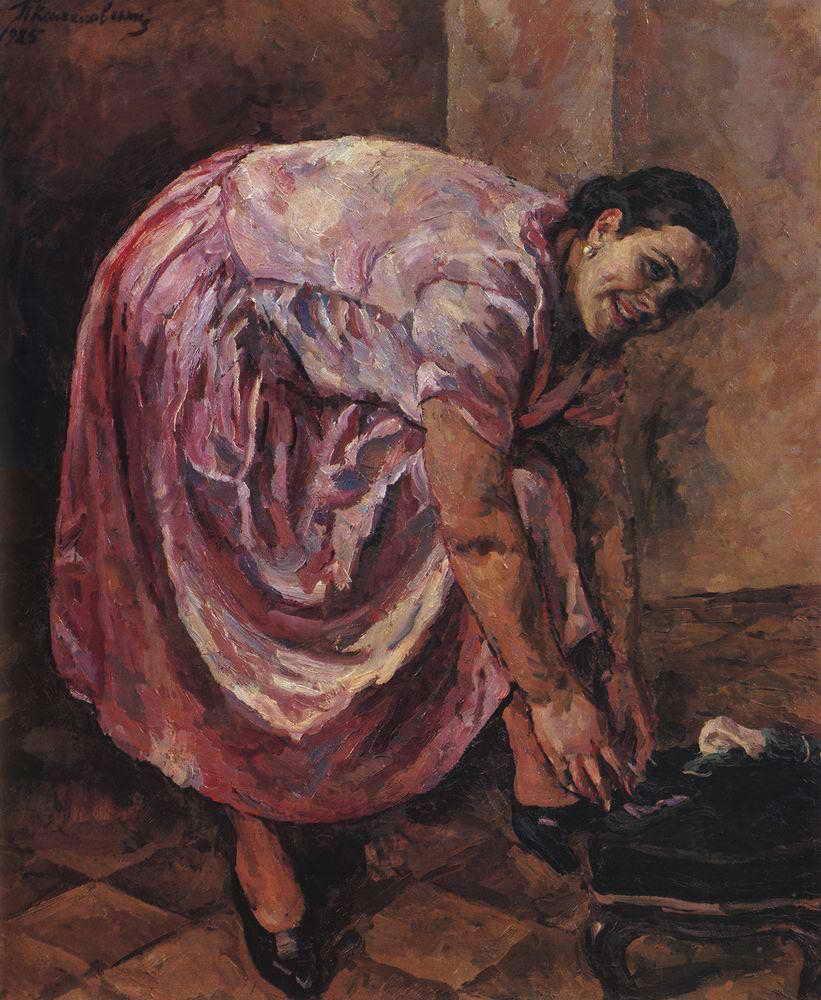 Портрет дочери в розовом платье. 1925 (1)