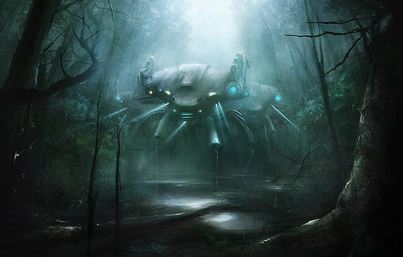 робот в лесу 03