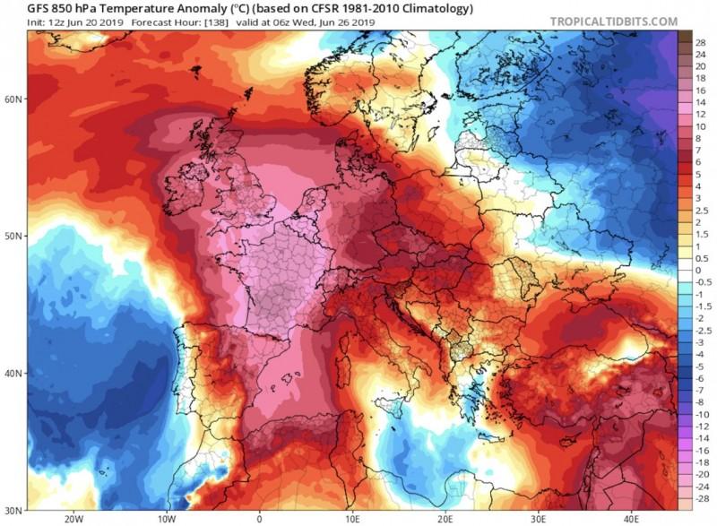 карта жара в европе июнь 2019