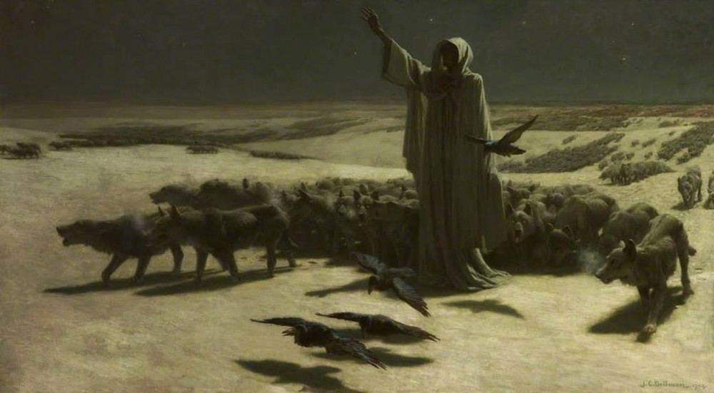 Hambruna   Famine, John Charles Dollman (1904) Salford Museum & Art Gallery
