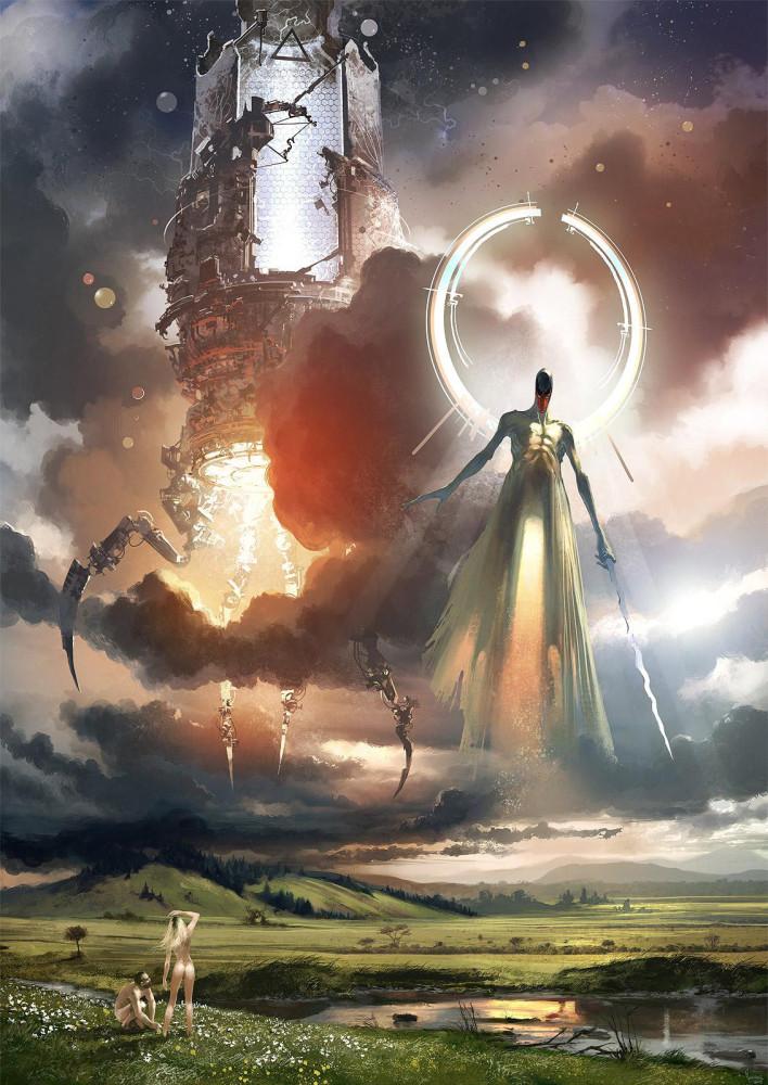 арт Адам, Ева и ангел