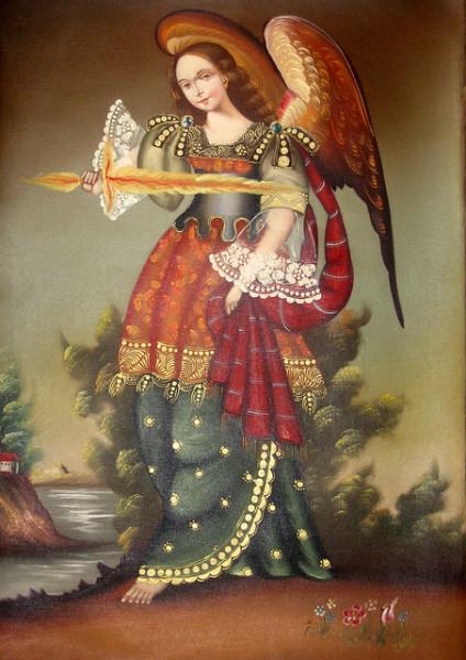 Archangel-Uriel-holding-the-flaming-sword