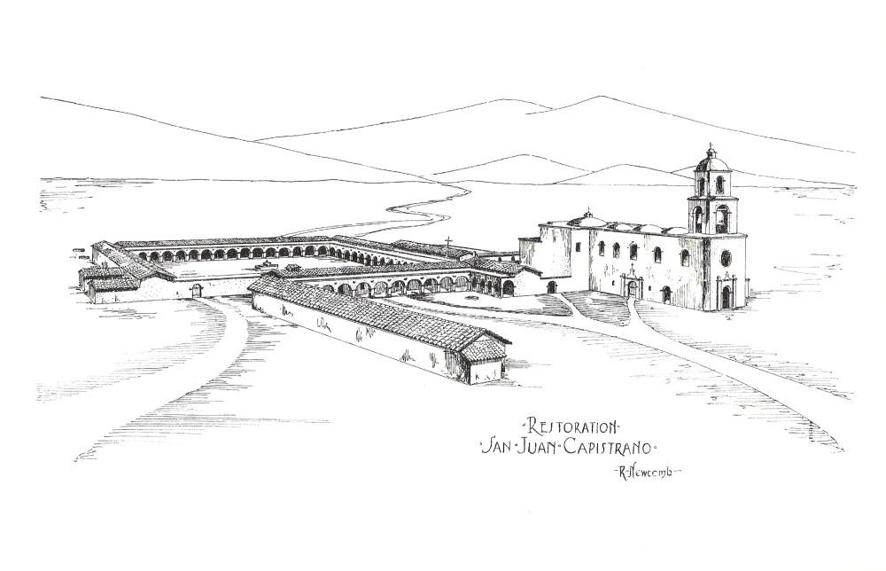 01 1916_Rexford_Newcomb_sketch_--_Mission_San_Juan_Capistrano