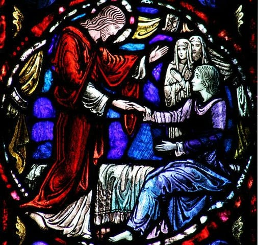 Raising_of_daughter_of_Jairus-stain-glass