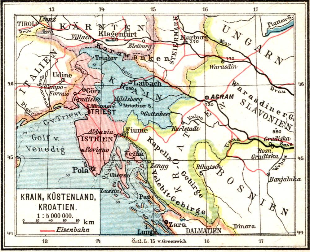 01 карта Крайна + 1910