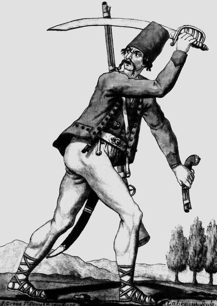 морлах MORLACI, человек из окрестностей Задара, гравюра с XVIII