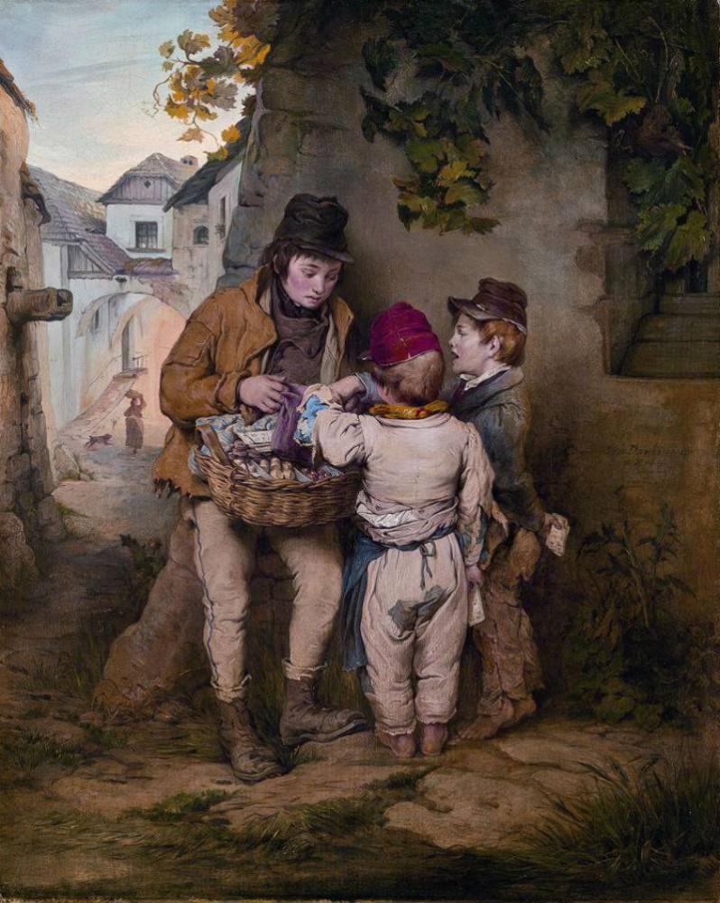 готтшееры The Gottscheer Boy Josef Danhauser - 1844