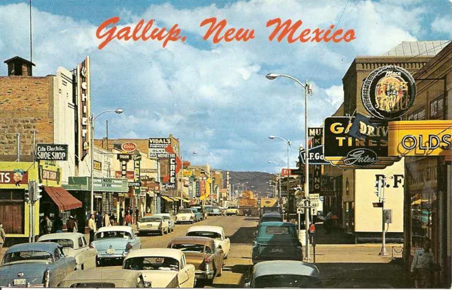 фото ретро 1950s-cars-gallup-nm