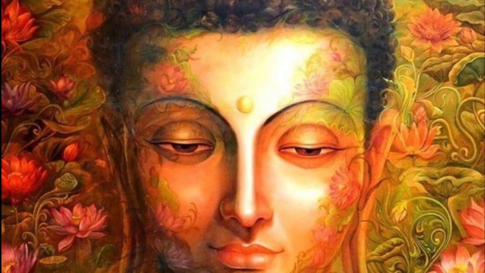 арт Будда с открытыми глазами