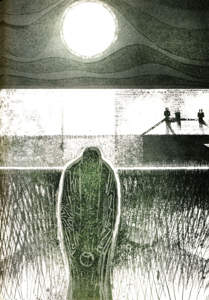 Illustration for M. R. James' A Warning to the Curious