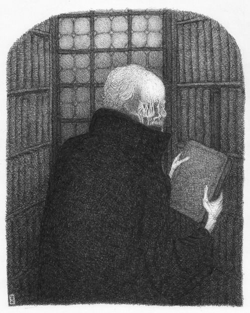 Illustration for M.R.James' ghost story The Tractate Middoth