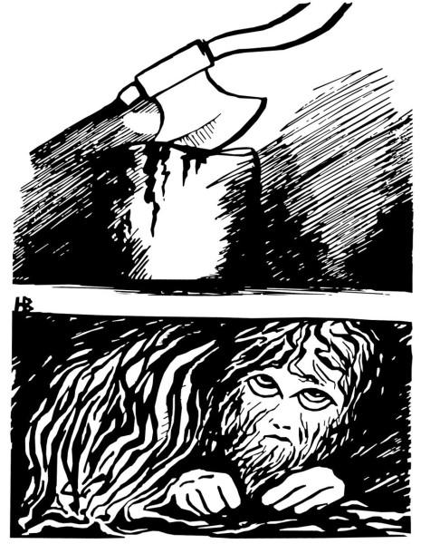 Иллюстрация к рассказу -Домовой- 01 автор Людмила Белаш