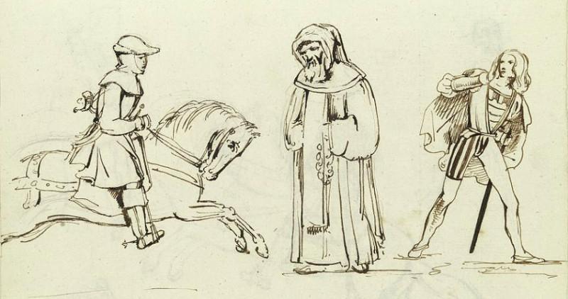 гонец, монах и рыцарь
