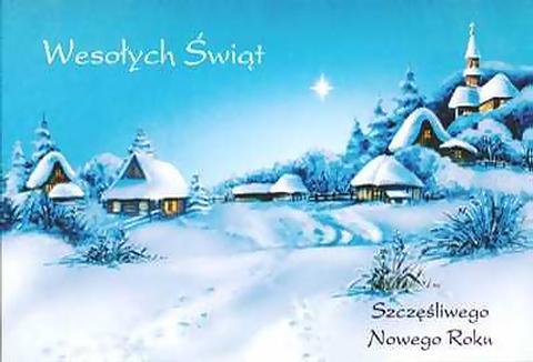 Открытки на польском с рождеством