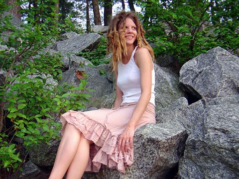 Kat on the rocks
