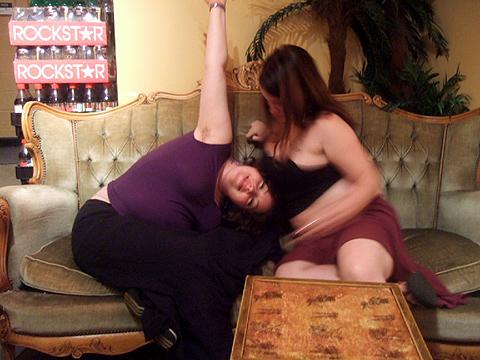 apparently I'm enjoying being boobie-squished!