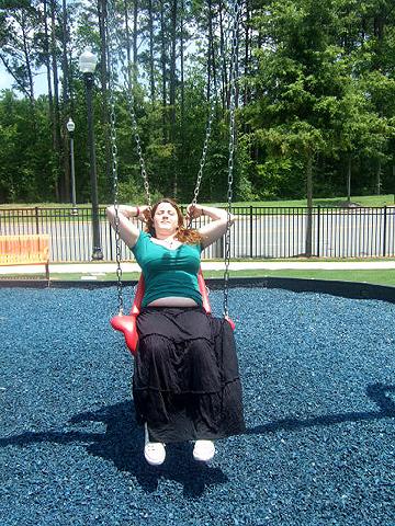 Hannah in the swing!