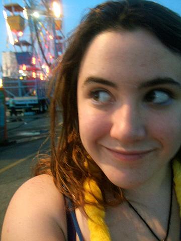 at the fair!excited Hannah!