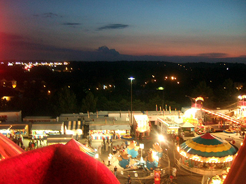 the fair with my little city in the background