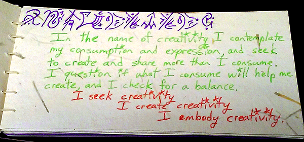 creativity value card