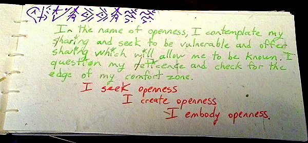 openness value card